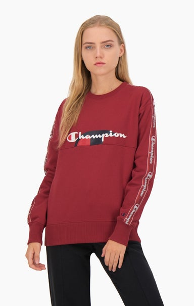 Multi Logo Jacquard Tape Sweatshirt