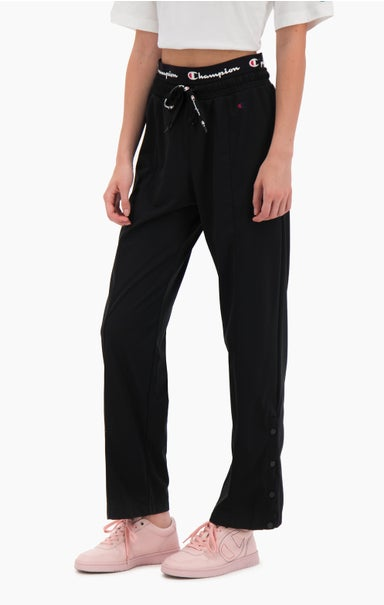 Double Waistband Popper Track Pants