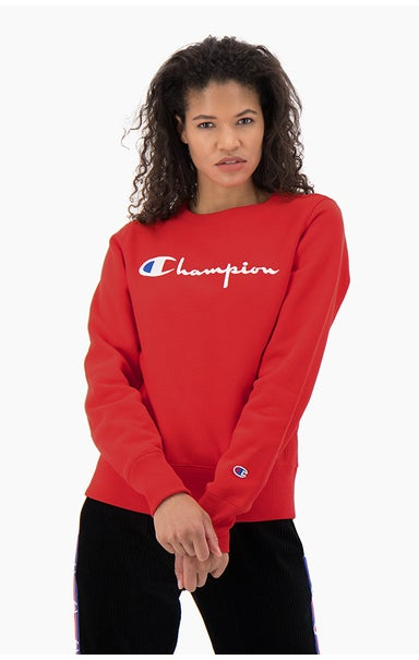 Script Logo Reverse Weave Cotton Terry Sweatshirt