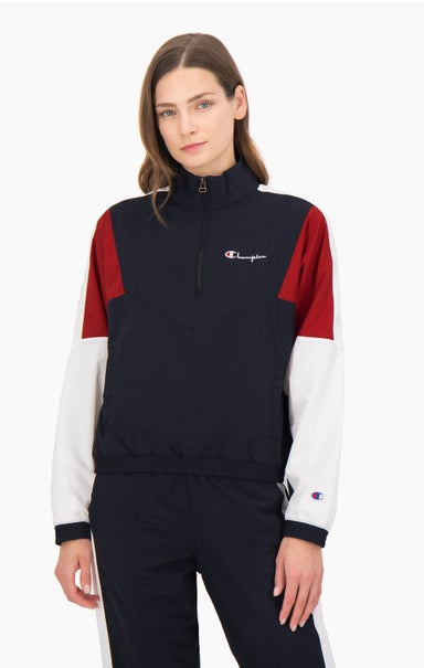 Half Zip-Up Colour Block Track Jacket