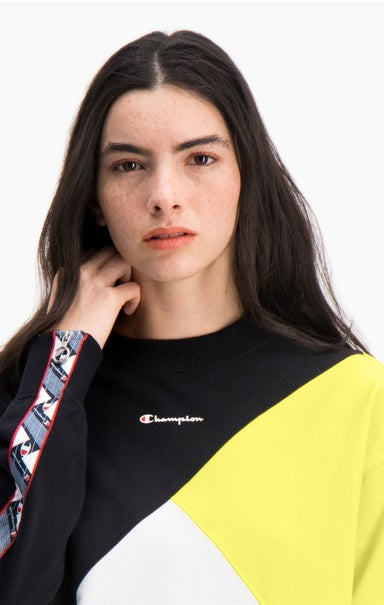 Colour Block Logo Tape Detail Sweatshirt
