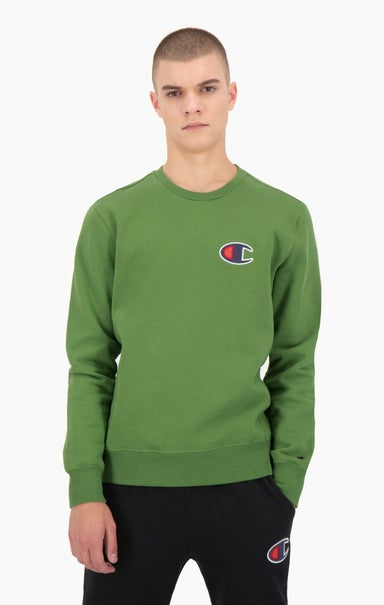 Suede C Logo Cotton Terry Sweatshirt