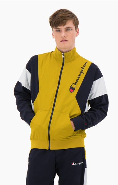 Zip-Up Colour Block Tracksuit Jacket