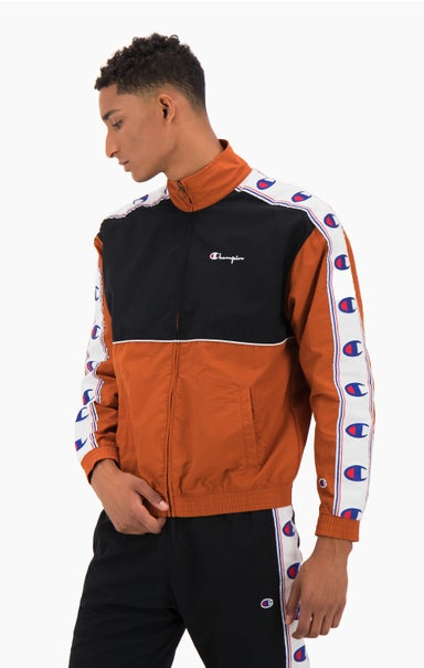 Colour Block Logo Tape Trim Track Jacket