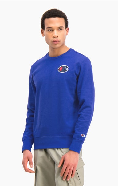 Satin C Logo Cotton Terry Sweatshirt