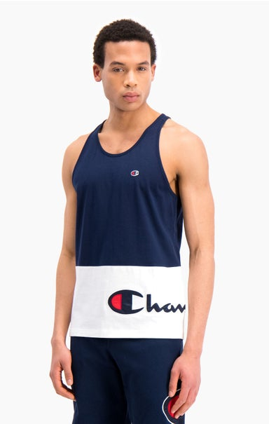 Colour Block Wraparound Logo Tank Top