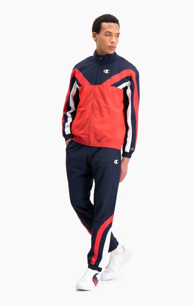 Colour Block And Stripe Cuffed Track Pants