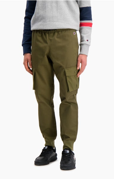 Ribbed Cuff Cargo Joggers
