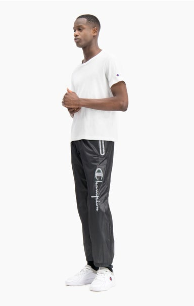 Reflective Script Logo Zip-Up Track Pants