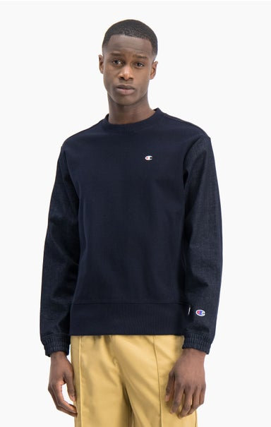 Denim Reverse Weave Sweatshirt