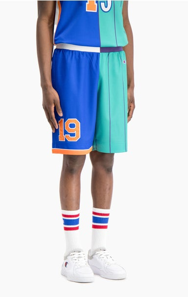 NBMIX Patchwork 'Champion 19' Basketball Mesh Shorts