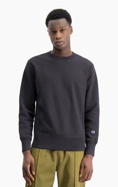 Acid Wash Reverse Weave Sweatshirt
