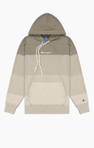 Ombré Panelled Cotton Jersey Hoodie