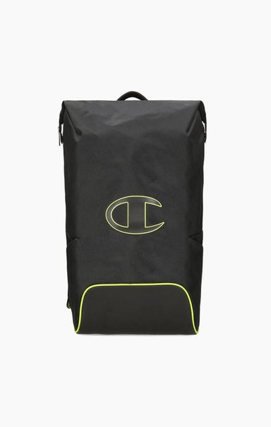 Roll Top Neon Outline C Logo Backpack